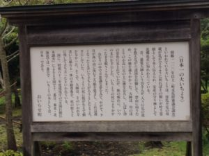 日本一の銀杏の説明看板