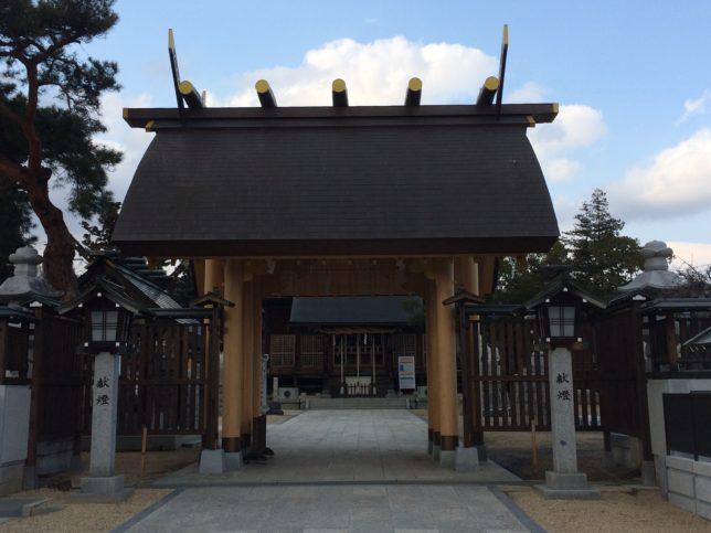 西根神社の御門