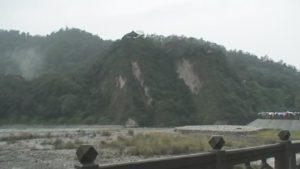 都江堰、山の岩を掘削