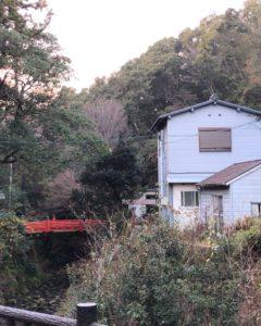 神社横の天野川